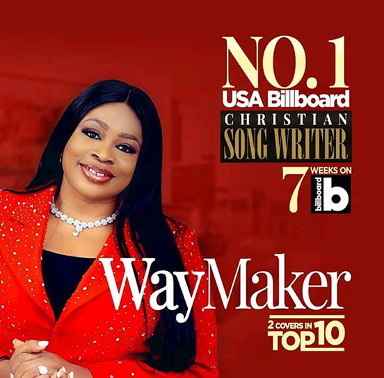 Sinach – Stands As Number 1 On USA Billboard Christian Songwriters [News]