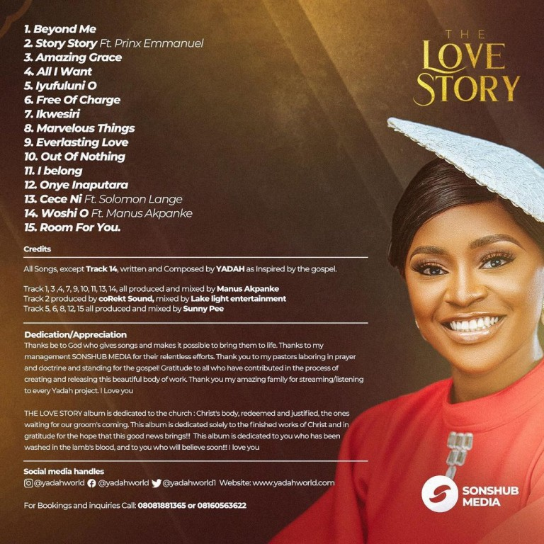 DOWNLOAD: Yadah – The Love Story Album [Music]